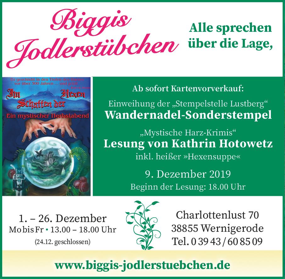 Sonderstempel der Wandernadel und Lesung von Kathrin Hotowetz, 9. Dezember 2019