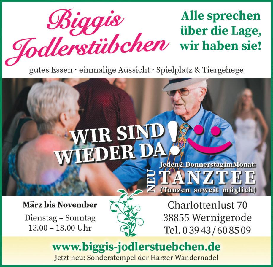 Tanztee in Biggis Jidlerstübchen in Wernigerode.