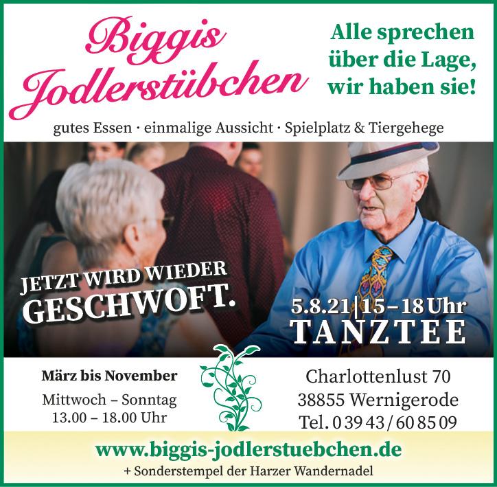 Tanztee in Biggis Jodlerstübchen am 5. August 2021.