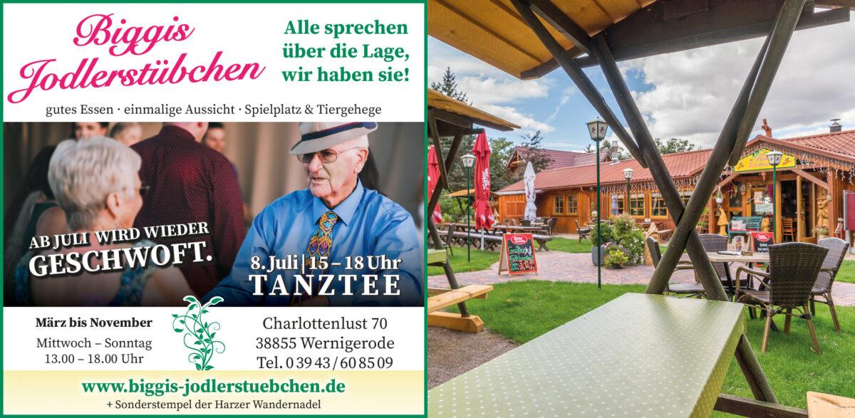 Tanztee ab 8. Juli 2021 in Biggis Jodlerstübchen, Wernigerode